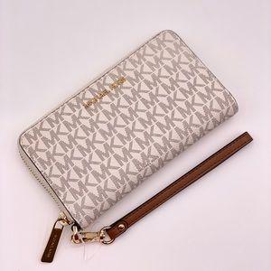 Michael Kors Large Flat Phone Wallet Wristlet
